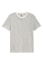 Round-neck T-shirt Regular fit - White/Striped - Men | H&M 2