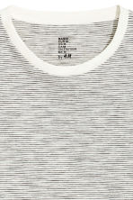 Round-neck T-shirt Regular fit - White/Striped - Men | H&M 3