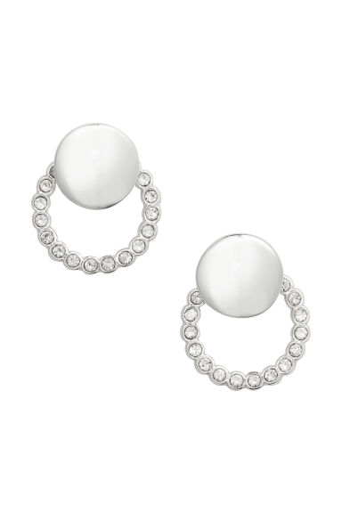 Round earrings - Silver - Ladies | H&M CN 1