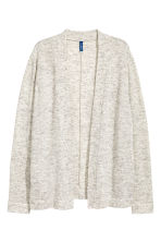 Fine-knit cardigan - Light grey marl - Men | H&M 2