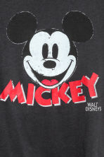 Printed jersey top - Dark grey/Mickey Mouse - Ladies | H&M 3