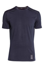 Perforated sports top - Dark blue - Men | H&M CN 2