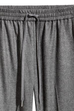 Pull-on trousers - Dark grey marl - Ladies | H&M CN 3