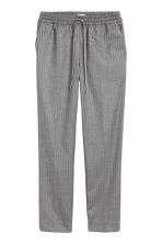 Pull-on trousers - Grey/Pinstripe - Ladies | H&M CN 2