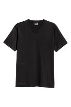 Premium cotton T-shirt - Black - Men | H&M CN 2