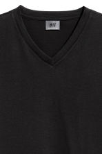 Premium cotton T-shirt - Black - Men | H&M 3