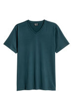 Premium cotton T-shirt - Dark petrol - Men | H&M CN 2