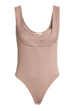 Ribbed jersey body - Beige - Ladies | H&M CN 2