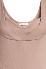Ribbed jersey body - Beige - Ladies | H&M CN 3