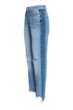 Straight Regular Trashed Jeans - Denim blue - Ladies | H&M CN 3