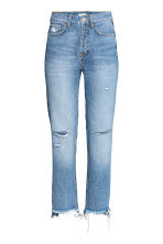 Straight Regular Trashed Jeans - Denim blue - Ladies | H&M CN 2