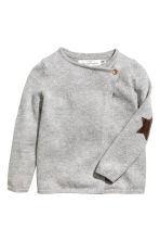 Wrapover cardigan - Grey marl - Kids | H&M 2