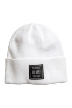Knitted hat - White - Men | H&M 1