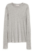 Lyocell top - Grey marl - Ladies | H&M CN 2