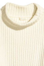 Wide polo-neck jumper - Natural white - Ladies | H&M 2
