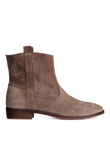 Suede boots - Dark brown - Ladies | H&M