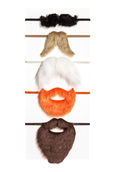 5-pack fancy dress moustaches - Orange - Kids | H&M 1