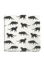 Paper napkins - White/Cats - Home All | H&M CN 1