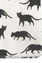 Paper napkins - White/Cats - Home All | H&M CN 2