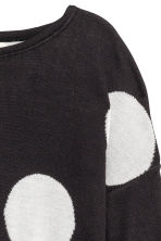 Fine-knit jumper - Black/Spotted - Kids | H&M 3