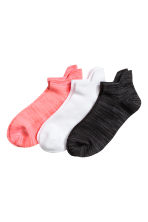 3-pack sports socks - Neon coral - Ladies | H&M CN 1