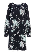 Long-sleeved dress - Dark blue/Floral -  | H&M 2