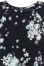 Long-sleeved dress - Dark blue/Floral - Ladies | H&M 3