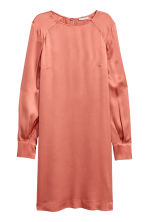 Robe à manches longues - Orange -  | H&M BE 2