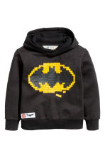 Printed hooded top - Black/Lego - Kids | H&M 2