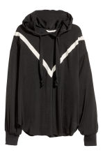 Hooded blouse - Black - Ladies | H&M 2