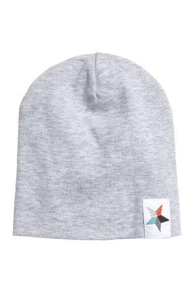 Jersey hat - Light grey marl -  | H&M 1