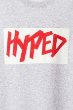 Printed sweatshirt - Light grey marl - Ladies | H&M CN 3