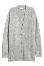 Oversized cardigan - Grey marl - Ladies | H&M 2