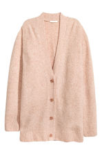 Oversized cardigan - Powder marl - Ladies | H&M GB 2