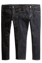 2-pack Skinny Fit Jeans - Dark denim blue/Black - Kids | H&M 2