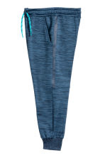 Fleece sports trousers - Dark blue marl - Kids | H&M 3