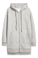 Long hooded jacket - Grey marl - Ladies | H&M CN 2
