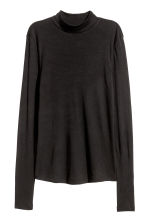 Fine-knit turtleneck top - Black - Ladies | H&M 2