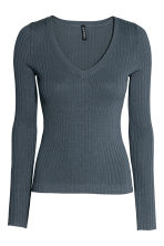 Rib-knit jumper - Storm blue - Ladies | H&M 2