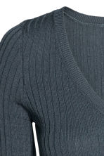 Rib-knit jumper - Storm blue - Ladies | H&M 3