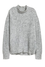 Ribbed jumper - Grey marl -  | H&M 2