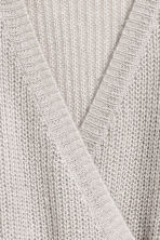 Knitted wrapover jumper - Light grey - Ladies | H&M 3