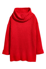 Knitted cowl-neck jumper - Red - Ladies | H&M CN 2