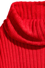 Knitted cowl-neck jumper - Red - Ladies | H&M CN 3