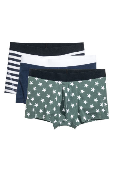 3-pack boxer shorts - Dark blue/Stars - Men | H&M 1
