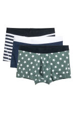 3-pack boxer shorts - Dark blue/Stars - Men | H&M CN 1