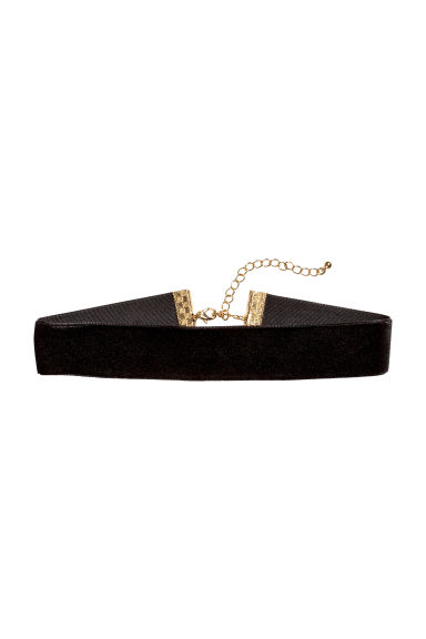 Velvet choker - Black - Ladies | H&M CN 1