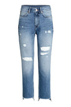 Straight Regular Relaxed Jeans - Azul denim trashed - MUJER | H&M ES 2