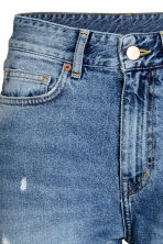 Straight Regular Relaxed Jeans - Azul denim trashed - MUJER | H&M ES 4