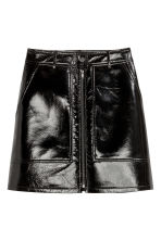 Patent skirt - Black - Ladies | H&M 2